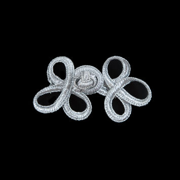 Silver Frog Closure - 2.5 x 1.375