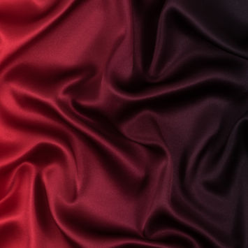 Red and Black Ombre Silk Charmeuse