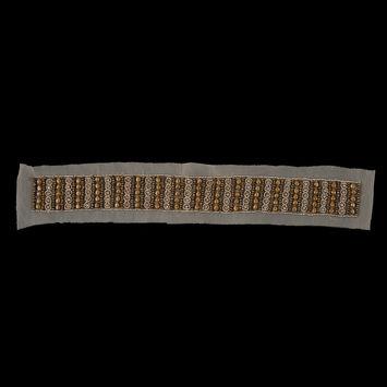 Gold Mesh Beaded & Rhinestone Applique - 18
