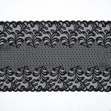 Black Stretch Floral Lace - 9.5