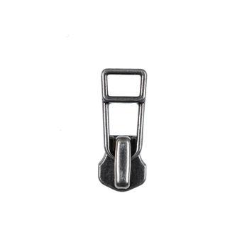 YKK Antique Silver Metal Zipper Pull - #5