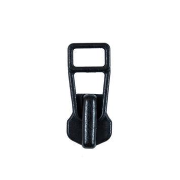 YKK Black Metal Zipper Pull - #8