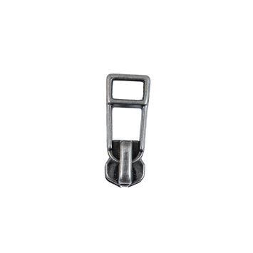 YKK Antique Silver Metal Zipper Pull - #4