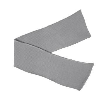Silver Heavy Rib Knit Trim - 7 x 38