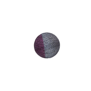 Gray and Purple Silk Covered Button - 18L/11mm