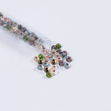 Clear Earth Tone Czech Seed Beads - Size 2