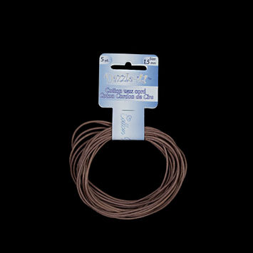 Dazzle-It Brown Cotton Wax Cord - 1.5mm