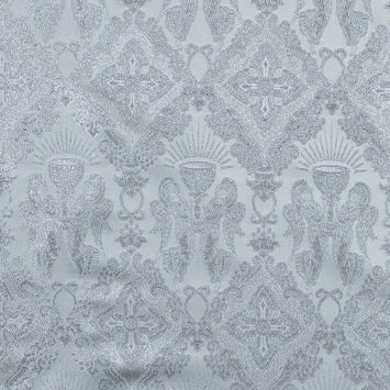 Metallic Silver and White Vestment Jacquard