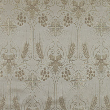 Metallic Gold and Beige Vestment Jacquard