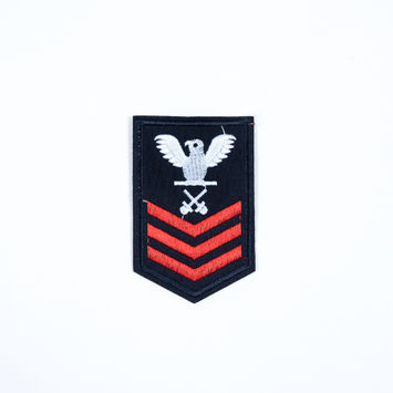 Italian Blue and Red Military Patch - 2.5 x 4