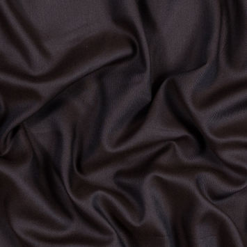 Chocolate Brown Tencel and Wool Twill