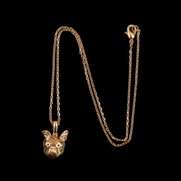 "Gold Swatch Pendant on an 18"" Chain-319624-10"