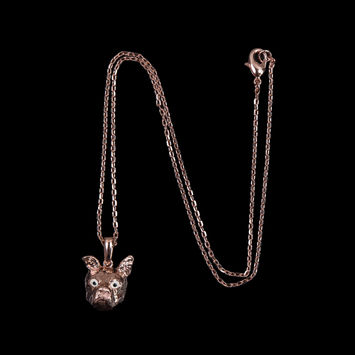 "Rose Gold Swatch Pendant on an 18"" Chain-319625-10"