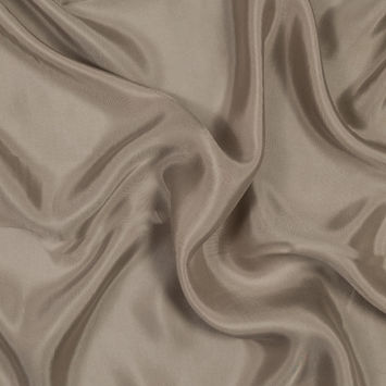 Taupe Washed Copper and Rayon Twill