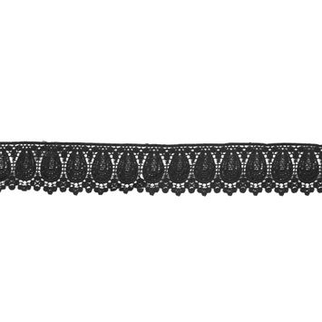 "Black Venise Lace Trim 2""-320010-10"