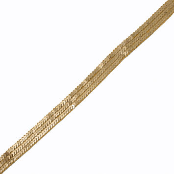 "Gold Fancy 3-Row Sequin Trim 0.875""-320475-10"