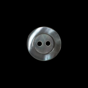 Gray Iridescent 2-Hole Mother Of Pearl Button 24L/15mm-320774-10