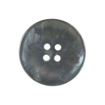Italian Gray Iridescent Mother of Pearl Button 40L/25mm-320807-10