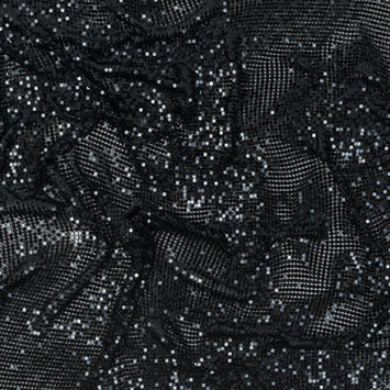 Mood Exclusive Black Tubular Chainmail Fabric-321290-10