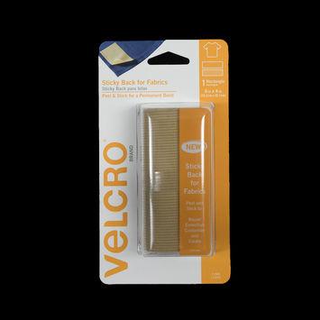 Rectangular Beige Sticky Back VELCRO Tape - 6 x 4