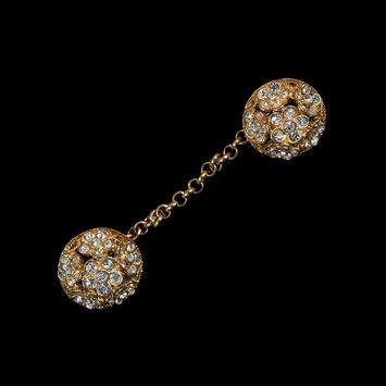 Gold Rhinestone Cloak Chain Buttons-321419-10