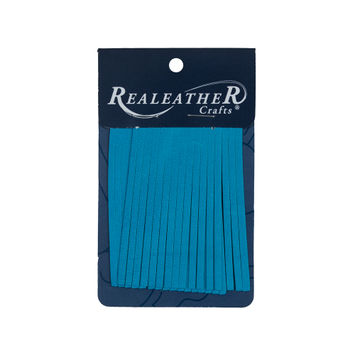 Realeather Dark Turquoise Deerskin Fringe Trim-321555-10