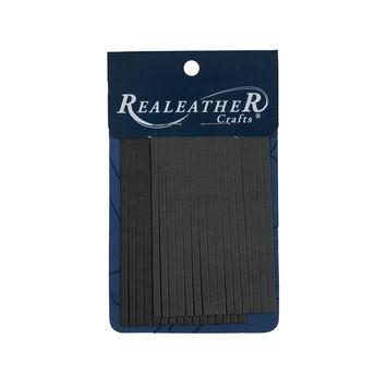 Realeather Charcoal Deerskin Fringe Trim-321557-10