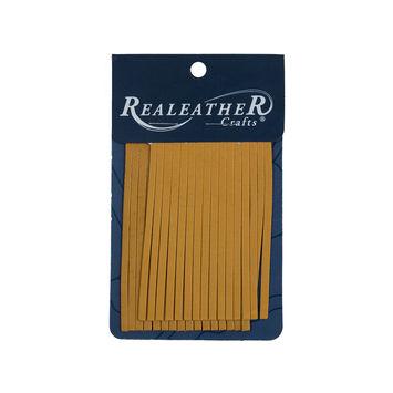 Realeather Gold Deerskin Fringe Trim-321561-10
