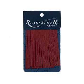 Realeather Red Deerskin Fringe Trim-321562-10