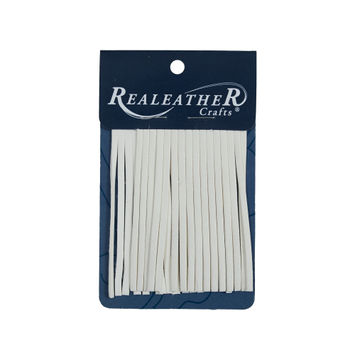 Realeather White Deerskin Fringe Trim-321564-10