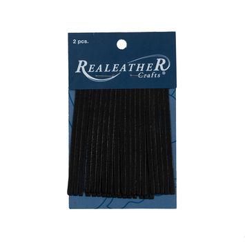 Realeather Black Deerskin Fringe Trim-321566-10