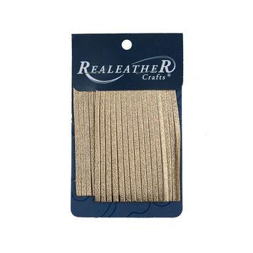 Realeather Metallic Gold Deerskin Fringe Trim-321567-10