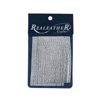 Realeather Metallic Silver Deerskin Fringe Trim-321568-10