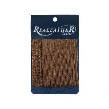 Realeather Metallic Bronze Deerskin Fringe Trim-321569-10