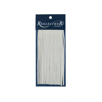 Realeather White Deerskin Fringe Trim