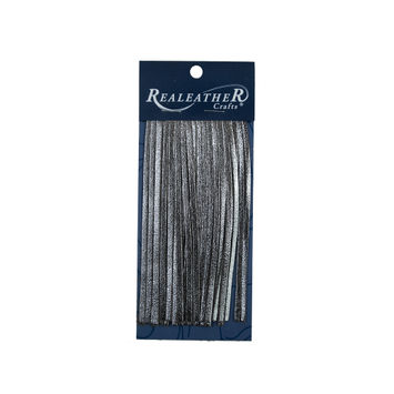 Realeather Metallic Silver Deerskin Fringe Trim