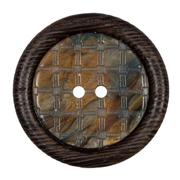 Brown Wooden 2-Hole Button 55L/35mm-321603-10