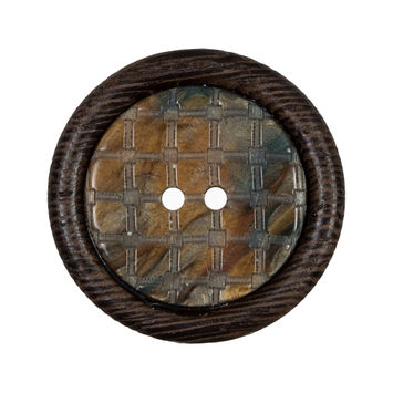 Brown Wooden 2-Hole Button 50L/32mm-321604-10