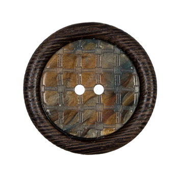 Brown Wooden 2-Hole Button 45L/29mm-321605-10