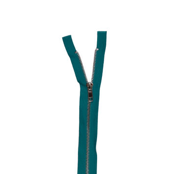 "Jade and Silver Metal Two-Way Zipper 36""-322182-10"