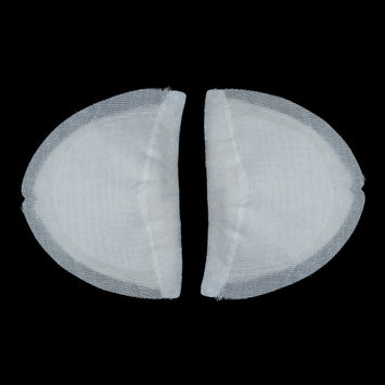 Pair of 3 Layer White Shoulder Pads