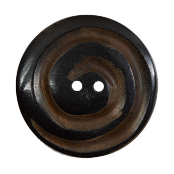 Black and Brown Swirled Horn Coat Button 54L/34mm-322788-10