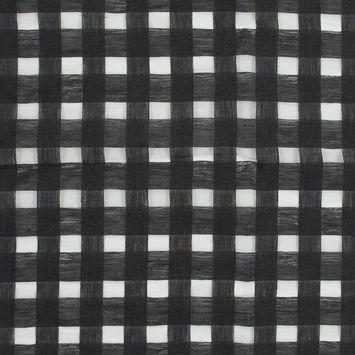 Katia Smoke Gray Checkered Linen Woven