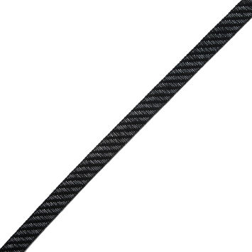 "Black and Gray Regimental Striped Woven Trim 0.625""-323266-10"