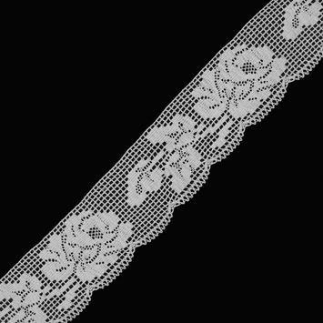 "Cream Crochet Lace 2.5""-323711-10"