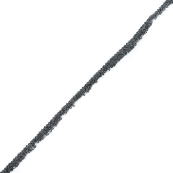 "Gray and Black Speckled Brush Fringe 0.5""-323773-10"