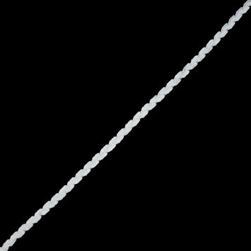 "Bright White and Winter White Feather Edge Flat Braid 0.375""-323796-10"