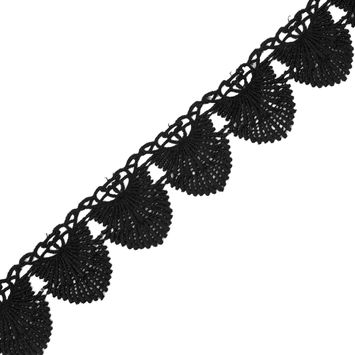 "Black Venise Lace Trim 2""-323805-10"