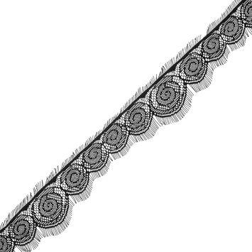 """Black Fine Eyelash Lace 2.5""""-323855-10"""