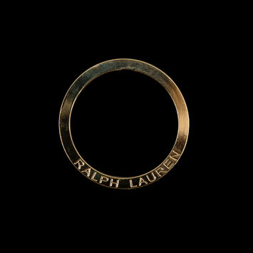 "Ralph Lauren Gold Metal O-Ring 2.25""-323972-10"